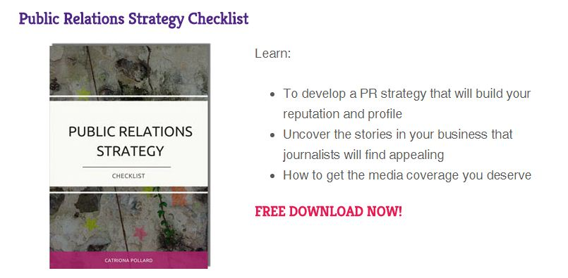 Public Relations Strategy Checklist lead magnet