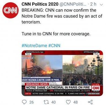 CNN Fake News Tweet